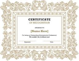 certificate of recognition templates certificate of recognition template