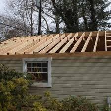 garage roof repair. framing day 2 garage roof repair