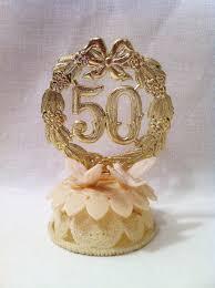 50th Anniversary Cupcake Decorations Vintage Retro 50th Wedding Anniversary Cake Topper Wilton