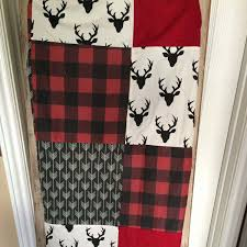 navy buffalo check curtains beautiful custom crib bedding deer plaid arrow in red and black