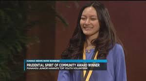 Punahou sophomore recognized as Hawaii's top youth volunteer