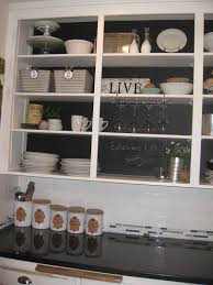 Kitchen Chalkboard With Shelf Open Kitchen Cabinets Diy Design Porter