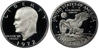 1972 Eisenhower Dollar Value Chart 1972 S 1 Silver Dcam Proof Ike Dollar Pcgs Coinfacts