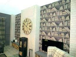 feature wall wallpaper living room bq