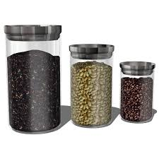 4 diffe sets of modern kitchen canisters not