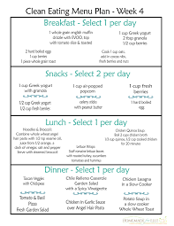 Week Meal Plans Free Clean Eating Meal Plan On A Budget Homemade For Elle