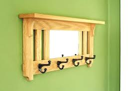 Mirror Coat Rack Custom Mirror Coat Rack Wall Intended For Mirrors Of Mounted Shelf House