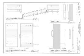 file insulated door embly insulated door elevations door latch and door handle