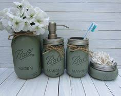 mason jar bathroom set. mason jar bathroom set, soap dispenser, rustic decor, set , b