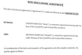 Nda Template For Startup Non Disclosure Agreement Template Templates At