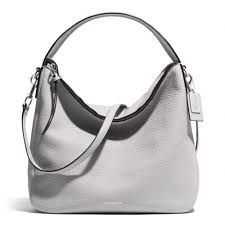 Coach Bleecker Sullivan Hobo In Pebbled Leather in White - Lyst