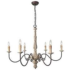 inspiration french country chandelier l a u z 6 light shabby chic lighting rustic pendant wooden wood white shade