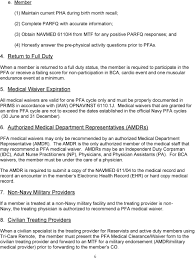 Navy Pfa Chart Guide 6 Physical Fitness Assessment Pfa Medical Clearance