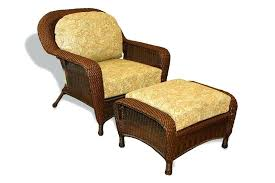 wicker colors shown with an opal cushion color outdoor chair and ottoman furniture storage sea pines