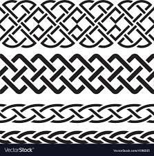 Celtic Pattern Amazing Set Of Celtic Pattern Borders Royalty Free Vector Image