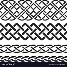 Celtic Pattern Amazing Set Of Celtic Pattern Borders Royalty Free Vector Image