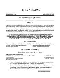 Resume Examples For Marvelous Veteran Resume Template Free Resume