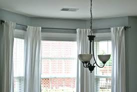 image of bay window curtain rods pictures