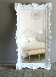 white leaning floor mirror. Large White Floor Mirror Vintage Leaning Opulent Regency Framed Standing T