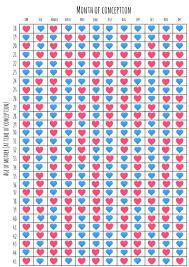 Pregnancy Calculation Calendar Boy Girl Pregnancy Chart What Sex Will My Baby Be Chart