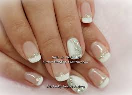 classy one finger gliter french   Gelish French manicure with ...