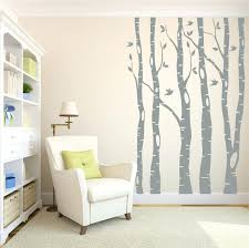 large wall decals tree tree wall decals birch tree decals living room decor zoom wall decals