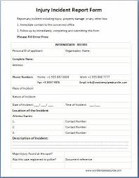 Accident Report Template Word Incident Report Form Incident Report Forms 16