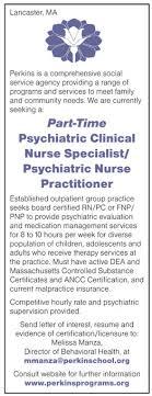 Part Time Psychiatric Clinical Nurse Specialist Psychiatric Nurse