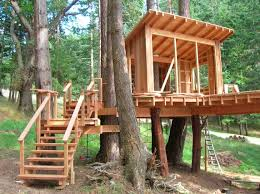 Awesome Designed Outdoor Tree House Created Using Minimalist Taste