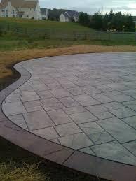 stamped concrete patio. Stamped Concrete Patio W/ Border E