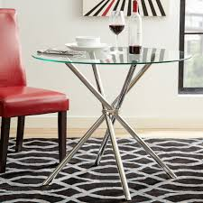 full size of tables chairs vince glass round dining room table chrome plated base