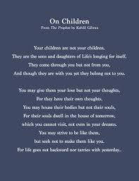 On Children Excerpt They Said It Best Prophet Quotes