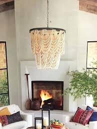 beaded chandelier pendant light eimatco regarding amazing home wood bead chandelier pottery barn remodel