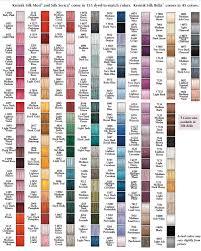 Kreinik Silk Color Chart Chart Cross Stitch Articles