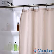fabric shower curtain liner with microban