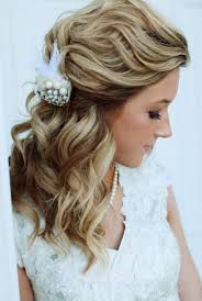 half up and half down bridal hairstyles women hairstyles Wedding Hairstyles Loose Curls loose curls half up half down wedding hairstyle wedding hairstyles loose curls