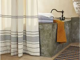 rippled stripe shower curtain