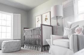 light gray nursery with faux bois floor lamp