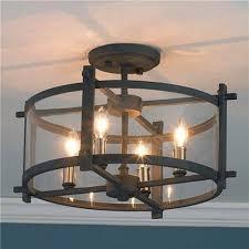 Rustic Flush Mount Ceiling Lights Lighting Fixtures Beautiful Flush Mount Chandelier Black