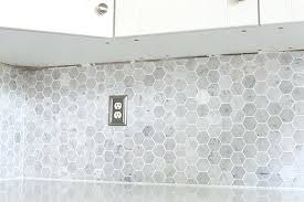 how to install a marble hexagon tile installing backsplash in kitchen glass mosaic