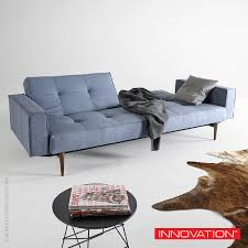 split back sofa with armswood  innovation usa  metropolitandecor