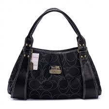 Coach Fashion Signature Large Black Hobo 334