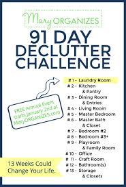 de clutter 2019 declutter challenge clean organize tips hacks