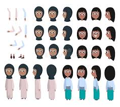 Character Front Back Side View Stock Illustrations 891