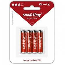 <b>Батарейка</b> алкалиновая <b>Smartbuy AAA</b> LR03/4B, 4 шт - купить в ...