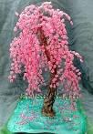 Плетение бисером деревьев сакура мастер класс