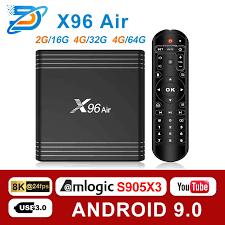 Android 9.0 TV BOX X96 Air Amlogic S905X3 mini 4GB 64GB 32GB wifi 4K 8K  24fps Netflix X96Air 2GB 16GB Set Top Box PK A95|Set-top Boxes