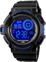 <b>Mens</b> Digital Sports <b>Watches</b> - Outdoors <b>50M Waterproof</b> Military ...