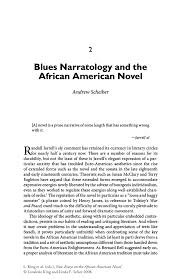 blues narratology and the african american novel springer new essays on the african american novel