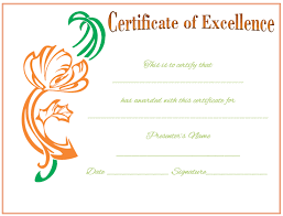 Award Of Excellence Certificate Template Award Certificate Template Celebrate Achievements 61